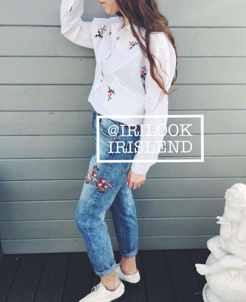 купить джинсы с вышивкой
