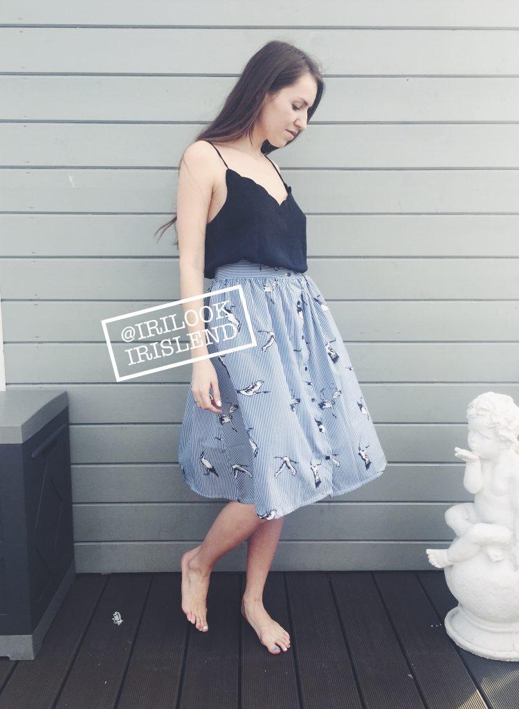 юбка с журавлями