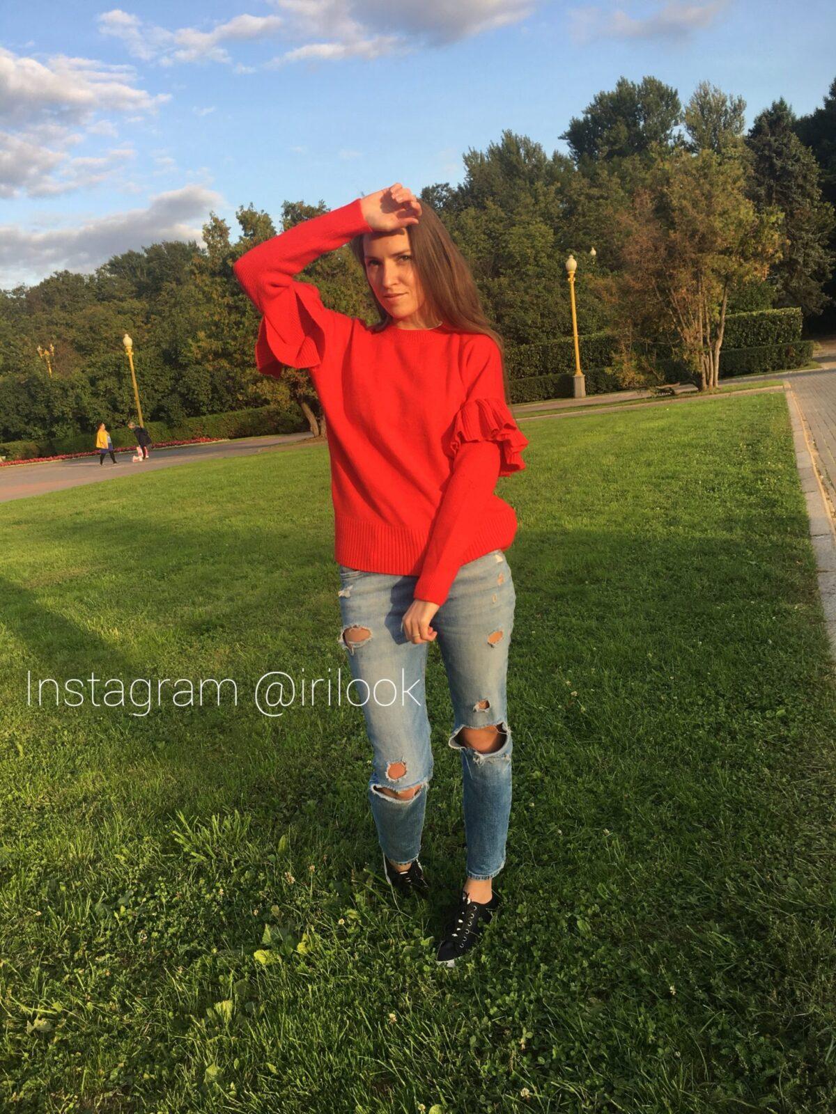 свитер с рюшами. Irislend_Aliexpress