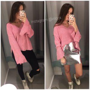 Стильные свитер акцент на рукава, купить недорого