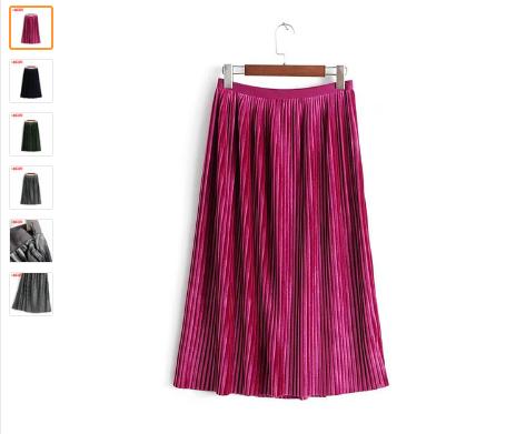 купить юбку плиссе недорого на алиэкспресс