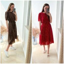Бюджетное платье в горох мини и миди купить недорого на Алиэкспресс отзывы @irilook