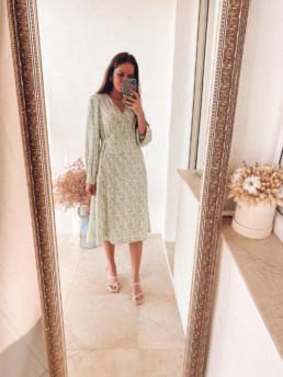платье миди на осень и лето весну с Алиэкспресс купить недорого скидки акции обзоры покупок @irilook