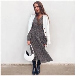 платье миди на осень казаки с Алиэкспресс базовый гардероб отзывы @irilook