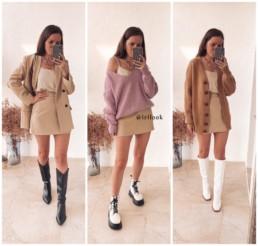 гардероб с Aliexpress костюм мини юбка и пиджак с Алиэкспресс купить недорого на Алиэкспресс отзывы @irilook хочу-могу