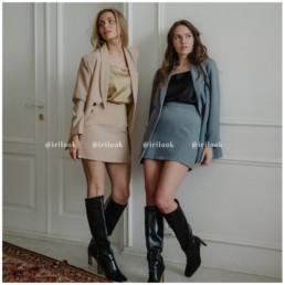 мини юбка костюм купить на Алиэкспресс недорого пиджак мода 2020 отзывы aliexpress @irilook