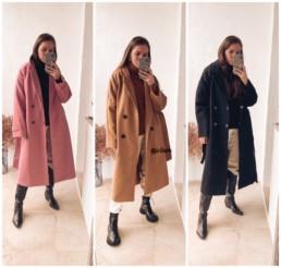 шерстяное пальто купить недорого на Алиэкспресс мода осень отзывы